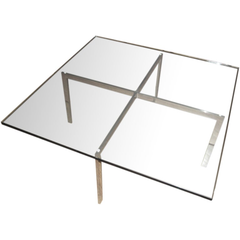barcelona coffee table designed by mies van der rohe at. Black Bedroom Furniture Sets. Home Design Ideas