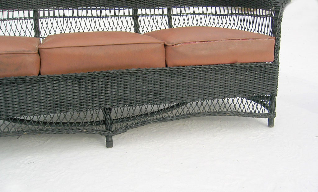 Three-Piece Art Deco Wicker Set image 4