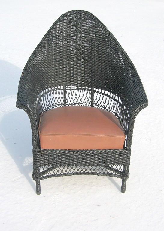 Three-Piece Art Deco Wicker Set image 5