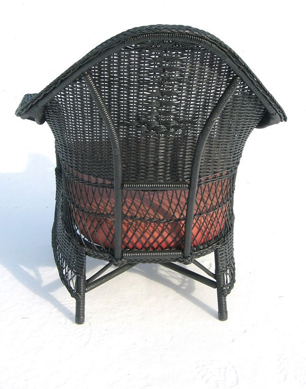 Three-Piece Art Deco Wicker Set image 8