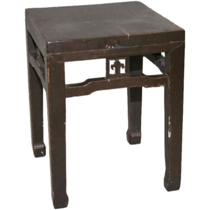 Antique Chinese Side Table or Stool For Sale