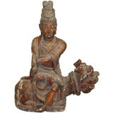Antique Seated Buddha Statue
