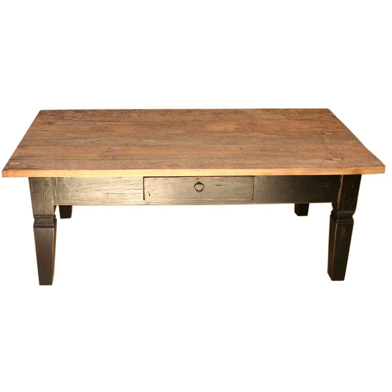 indoor or outdoor rustic teak coffee table at 1stdibs