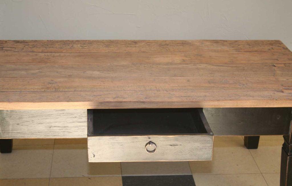 Indoor or Outdoor Rustic Teak Coffee Table at 1stdibs
