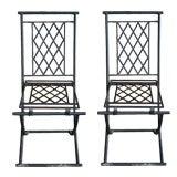 4 Indoor or Outdoor Folding Metal Chairs