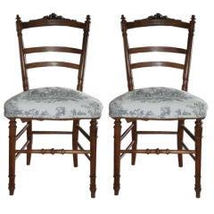 Napoleon III Ribbon Top Side Chairs
