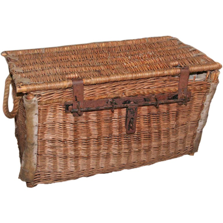 Auto Antique Wicker Trunks : French wicker trunk at stdibs