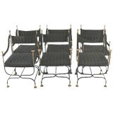 Set of 6 Empire Style Arm Chairs