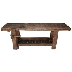 French Antique Workbench or Console Table