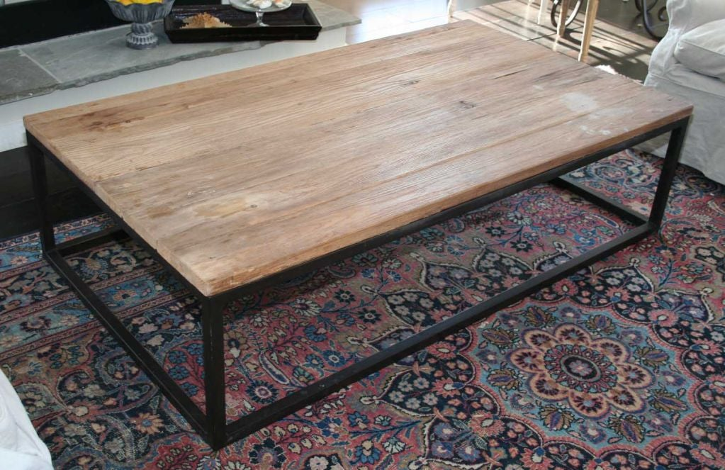 Metal Frame Coffee Table With Wood Top Woodworking DIY Project