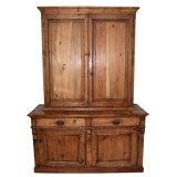 Stepback Danish Pine Cupboard