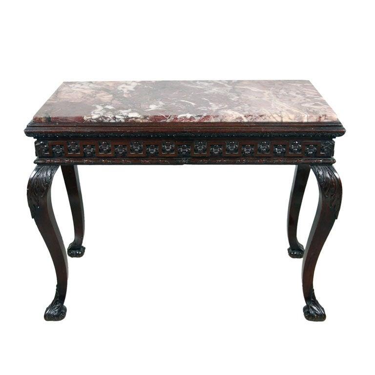 A fine irish mahogany marble top console table at 1stdibs for Sofa table ireland