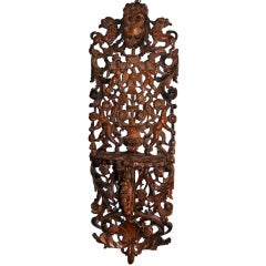 An Unusual Continental Carved Wall Bracket