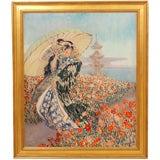 """""""Woman in Kimono"""" by Everett Lloyd Bryant"""
