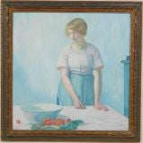 """""""Woman with Strawberries"""" by Myron Barlow"""