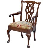 English Chippendale Period Armchair