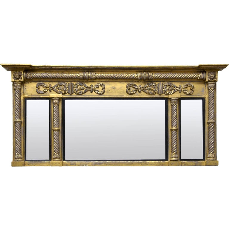 English Regency Overmantel Mirror