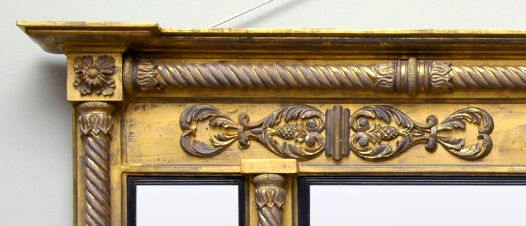English Regency Overmantel Mirror In Excellent Condition For Sale In Sheffield, MA