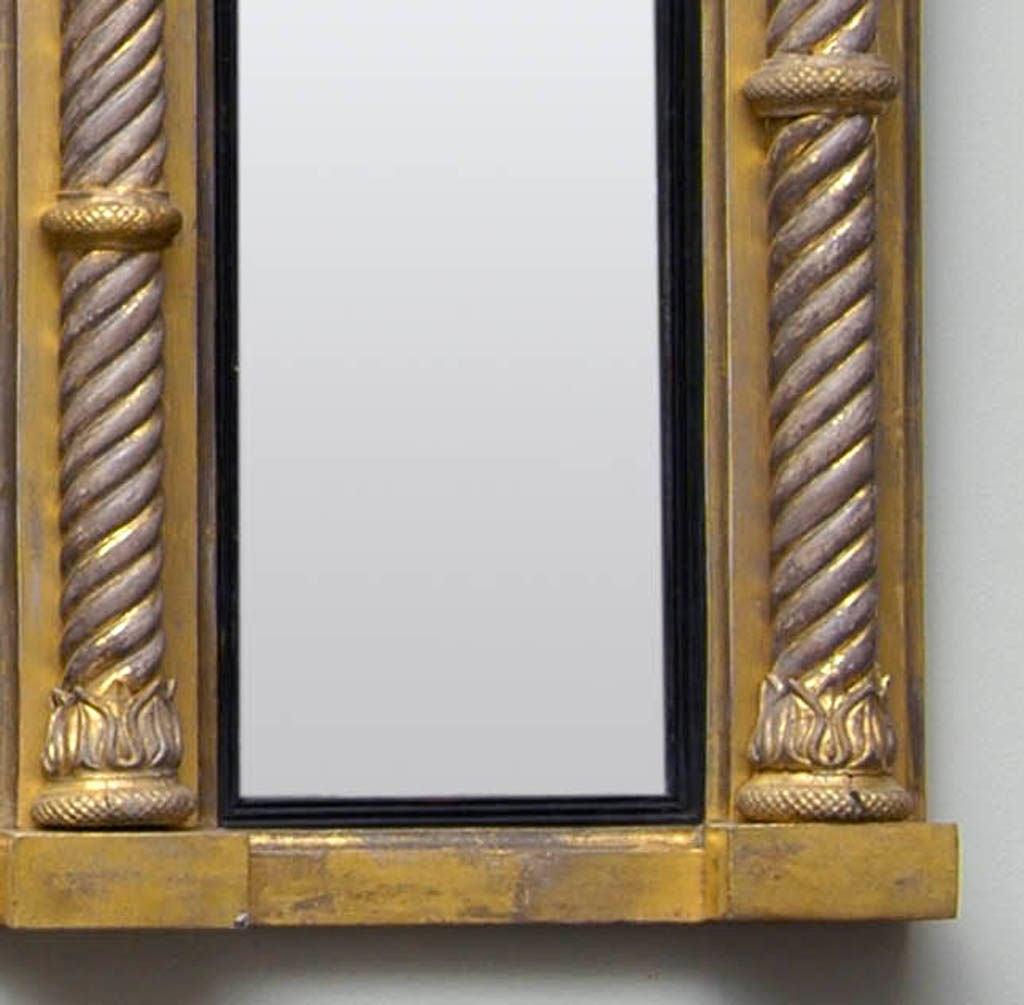 19th Century English Regency Overmantel Mirror For Sale