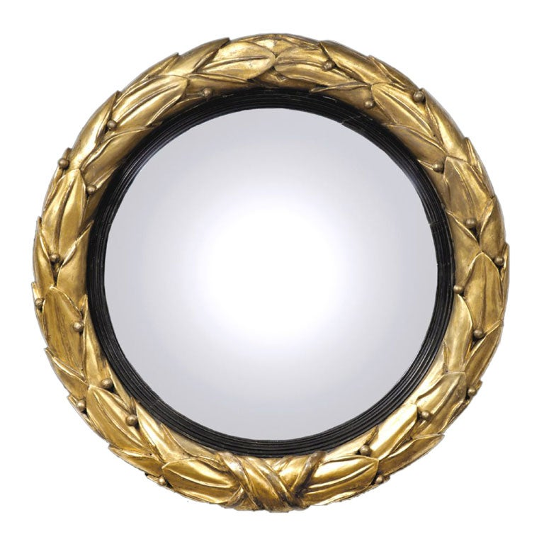 English Regency Convex Mirror For Sale At 1stdibs
