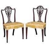 English Pair of Period Hepplewhite Side Chairs
