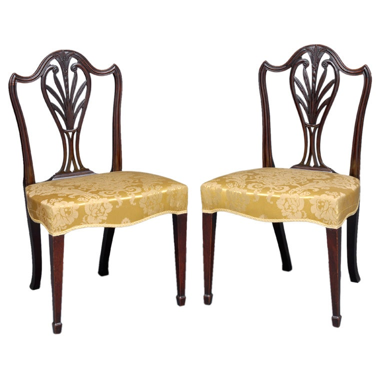 English Pair of Period Hepplewhite Side Chairs