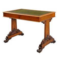 English Victorian Oak Partners Library Table