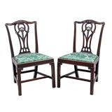 English Pair of Chippendale Side Chairs