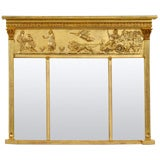 English Giltwood Overmantel Mirror