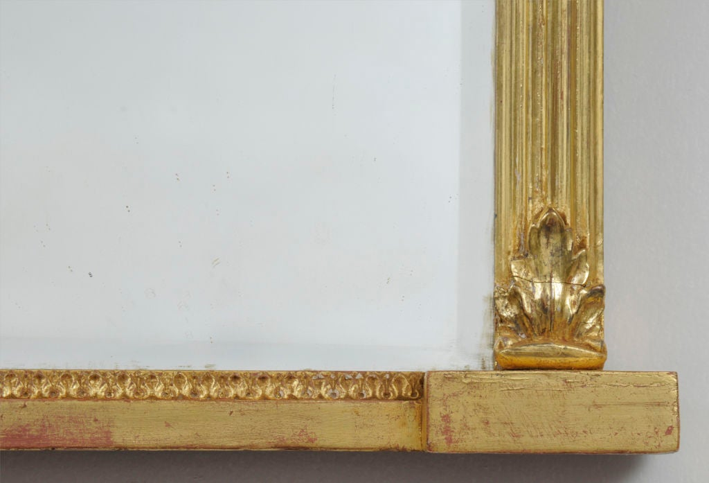 19th Century English Giltwood Overmantel Mirror For Sale