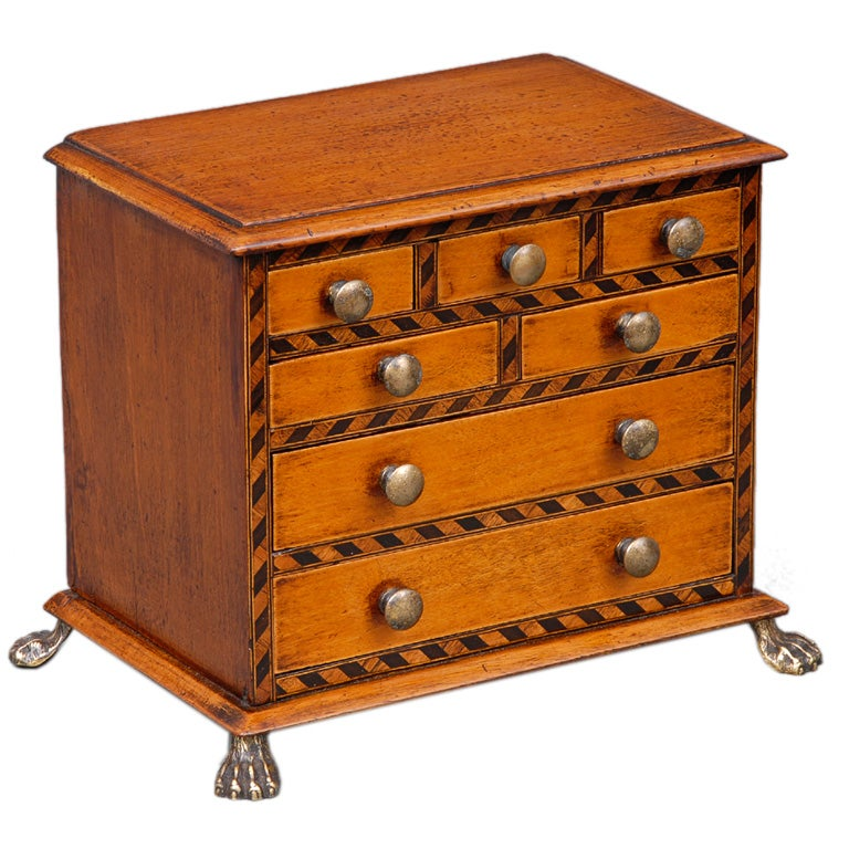 English Miniature Chest For Sale