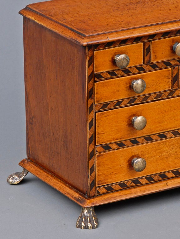Brass English Miniature Chest For Sale