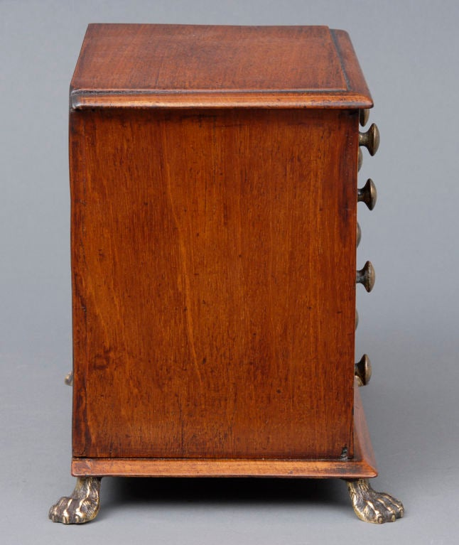 Inlay English Miniature Chest For Sale