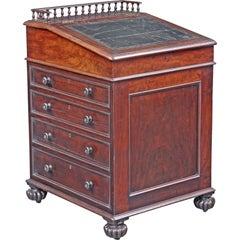 English Late Regency Period Davenport Desk