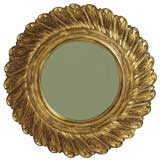 Commanding Italian Gilded and Carved Wall Mirror