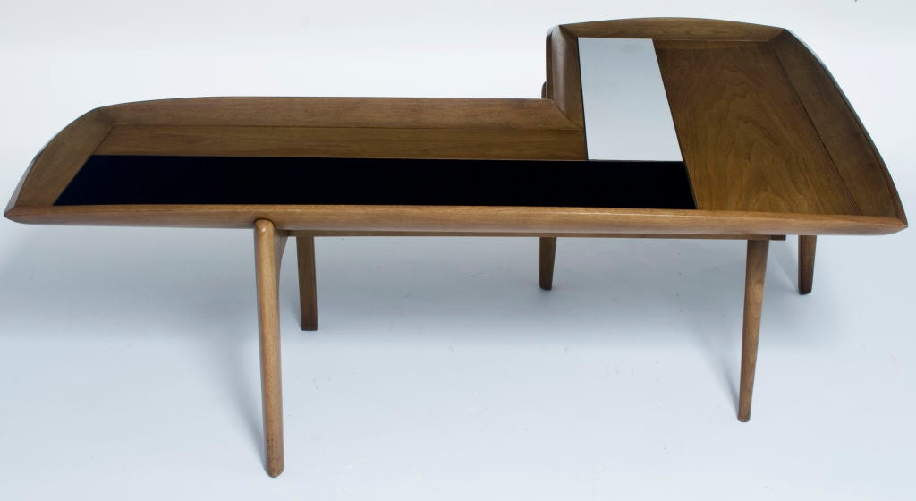 l shape wood black and white block coffee table at 1stdibs With white block coffee table