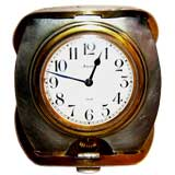 Arts& crafts hand hammered Sterling travel clock by Tiffany & Co
