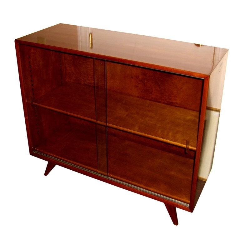 Nice 1950 39 S Swedish Bookcase W Sliding Glass Doors At 1stdibs