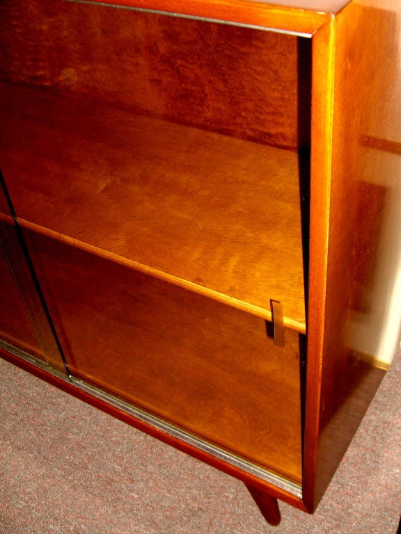 Nice 1950 39 s swedish bookcase w sliding glass doors at 1stdibs for Nice sliding glass doors