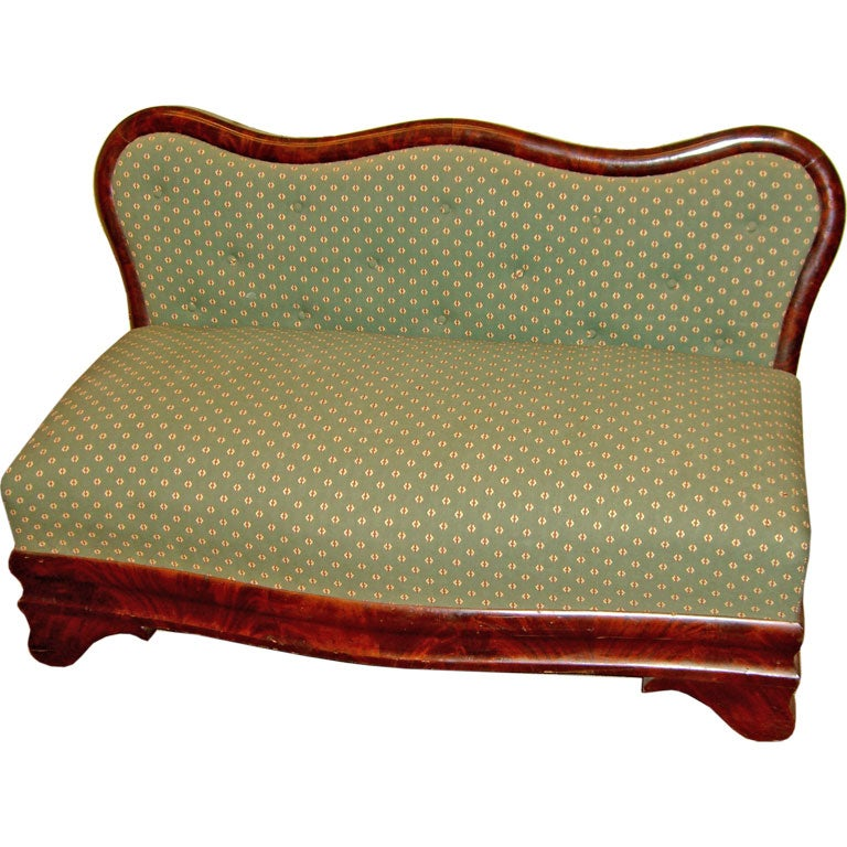 Petite Period American Empire Settee At 1stdibs