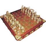 Wonderful hand made chess set polish artists brass copper amber