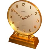 Rare mechanical electric transional clock by Helvetia
