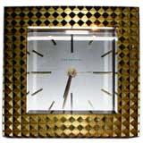 Tiffany and Company Brass travel alarm clock
