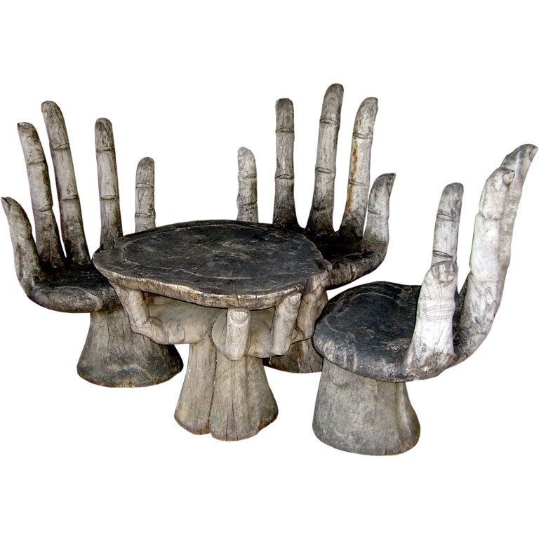 Fabulous 1960 S Mahogany Hand Chairs And Table At 1stdibs