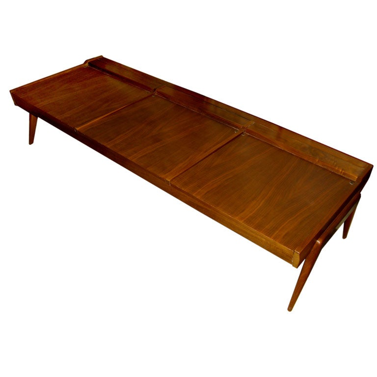 Unusual convertible bench or coffee table by brown saltman of ca Convertible bench