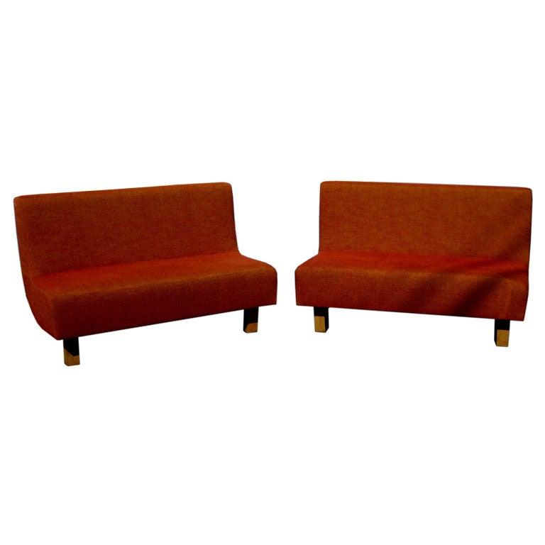 Mid Century Modern Sofa Legs Pair Of Mid Century Modern Settees With Maple  Legs At 1stdibs .