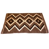 1960'S Alpaca hand woven geometric rug or wall hanging
