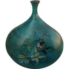 Jean de Lespinasse Hand Thrown Terracotta Vase signed JDL