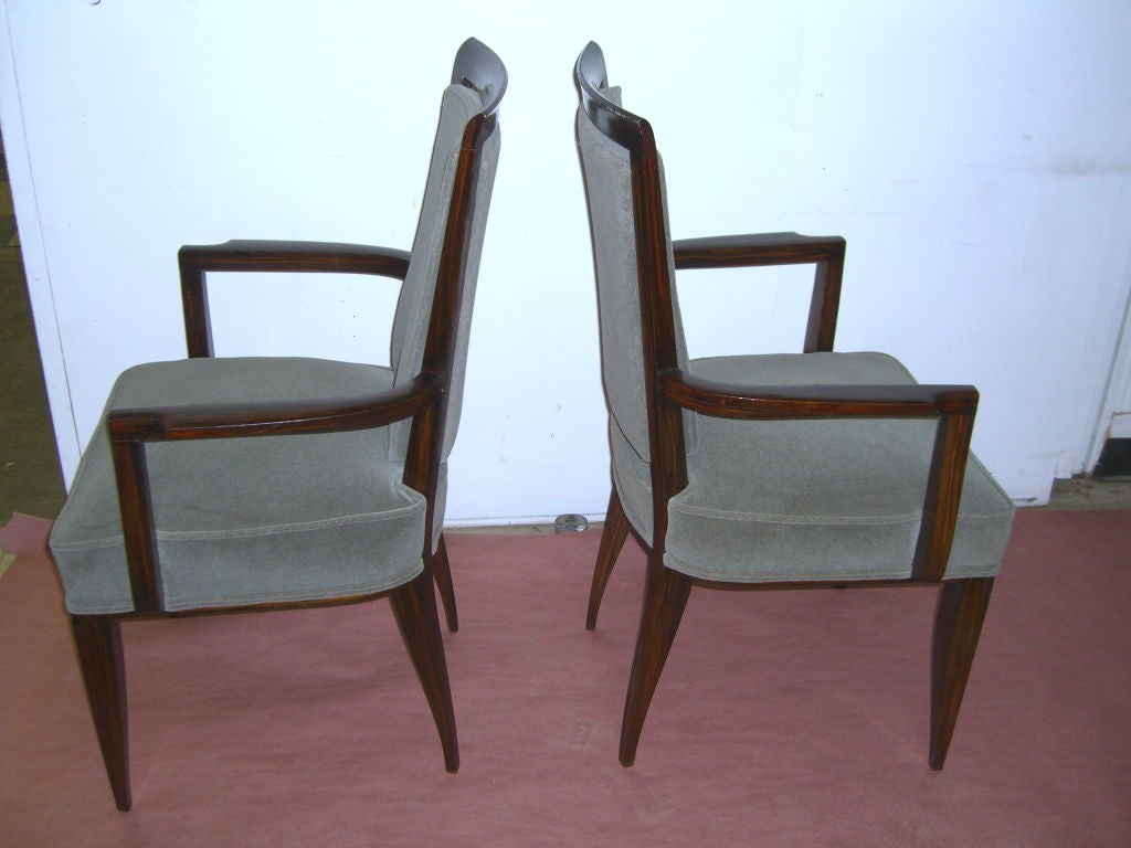 Fabulous Set Of 10 Period French Art Deco Dining Room Chairs At 1stdibs