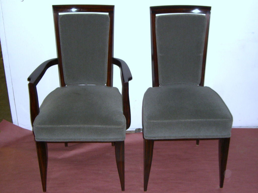 fabulous set of 10 period french art deco dining room